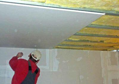 Referenz Trockenbauarbeiten an der Decke